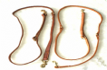 Hand-Made  Claytons  Leather Police (Training) Dog Lead Bleed Knot and Stitched
